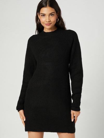 Guido Maria Kretschmer Collection Robes en maille 'Mara' en noir, Vue avec modèle