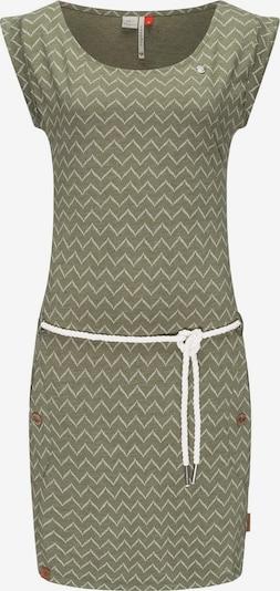 Ragwear Kleid 'Tag Zig Zag' in oliv / weiß, Produktansicht