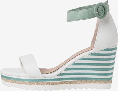 MARCO TOZZI by GUIDO MARIA KRETSCHMER Sandalen met riem in de kleur Grijs / Wit, Productweergave