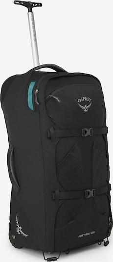 Osprey Rucksacktrolley in türkis / schwarz / weiß, Produktansicht