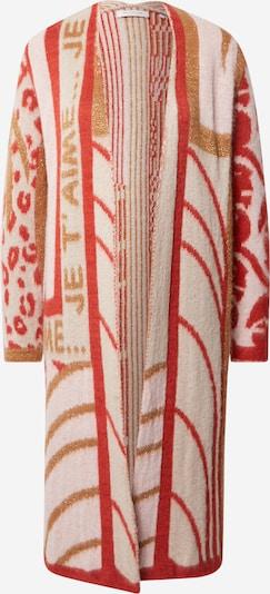 Rich & Royal Cardigan in creme / braun / rot, Produktansicht