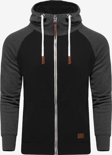 behype Sweatjacke 'HENRAY' in schwarz, Produktansicht