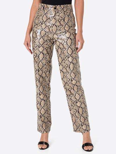 Pantaloni 'Serena' Gina Tricot pe bej / maro / verde / oliv, Vizualizare model