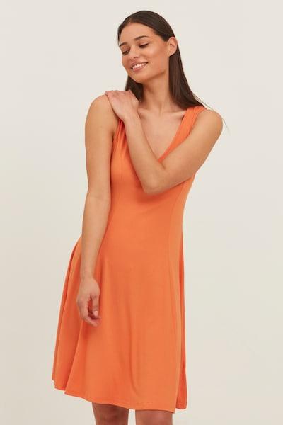Fransa Jerseykleid in orange, Modelansicht
