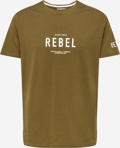 Redefined Rebel T-Shirt 'Ronan' in oliv / weiß, Produktansicht