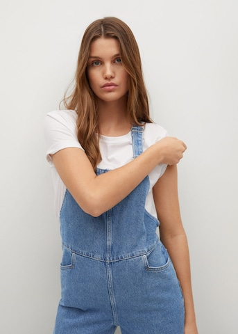 MANGO Tuinbroek jeans 'Ares' in Blauw
