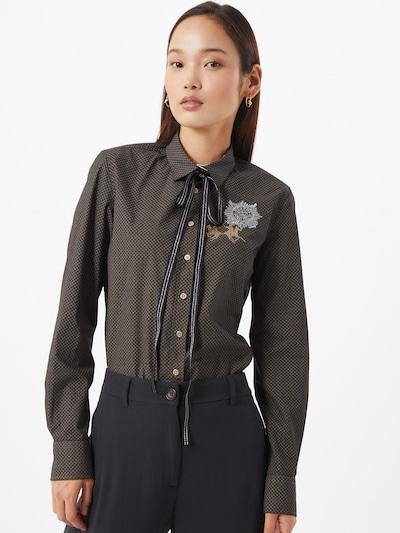 Bluză La Martina pe bronz / gri deschis / gri închis, Vizualizare model