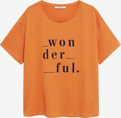 VIOLETA by Mango Shirt 'WONDER' in de kleur Sinaasappel / Zwart, Productweergave