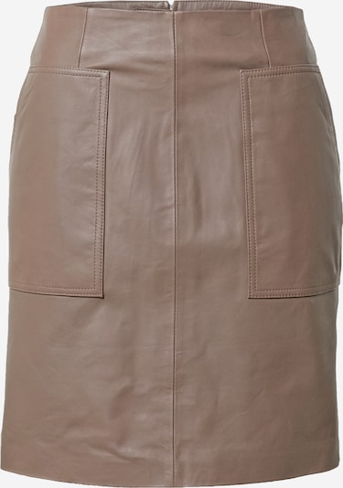 Selected Femme Tall Rok 'MOON' in de kleur Taupe, Productweergave