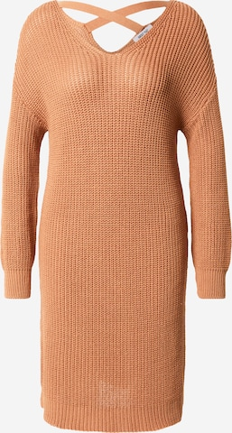 ABOUT YOU Knit dress 'Laurina' in Beige