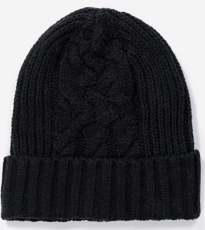 Ulla Popken Muts in de kleur Zwart gemêleerd, Productweergave