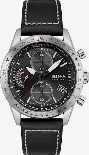 BOSS Casual Uhr in rot / schwarz / silber, Produktansicht