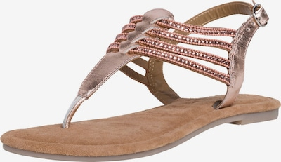 TAMARIS T-bar sandals in Rose gold, Item view