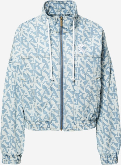 Karl Kani Veste mi-saison en bleu clair / blanc, Vue avec produit