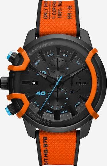 DIESEL Armbanduhr in blau / grau / orange / schwarz, Produktansicht