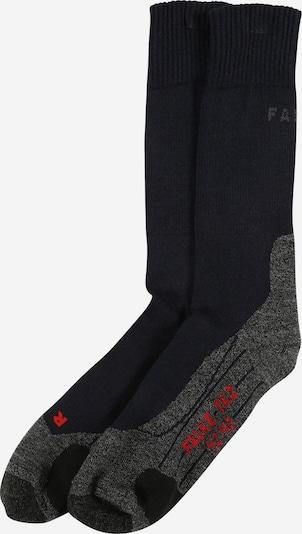 FALKE Chaussettes de sport en bleu marine / gris foncé / rouge, Vue avec produit