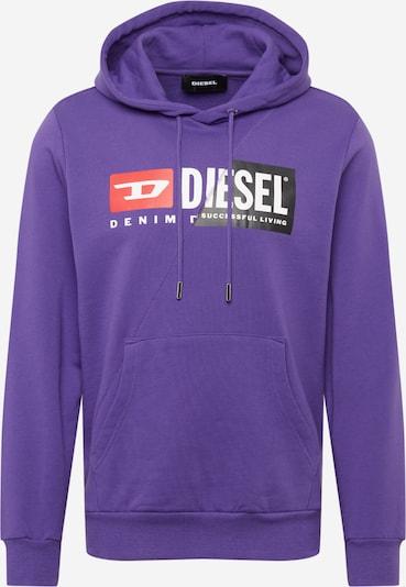 DIESEL Mikina - svítivě fialová / červená / černá / bílá, Produkt