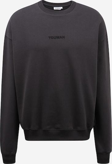 Youman Sweater majica 'Casper' u antracit siva / tamo siva, Pregled proizvoda