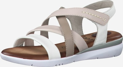 JANA Sandals in Beige / Taupe / White, Item view