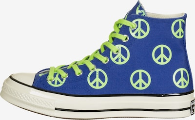 CONVERSE Sneaker ' 70 HI ' in royalblau / neongrün, Produktansicht