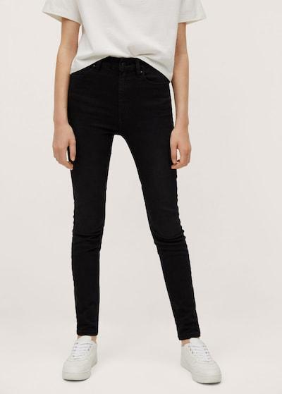 MANGO KIDS Jeans in de kleur Black denim: Vooraanzicht