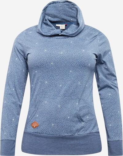 Bluză de molton 'Chelsea Dots' Ragwear Plus pe indigo / alb, Vizualizare produs