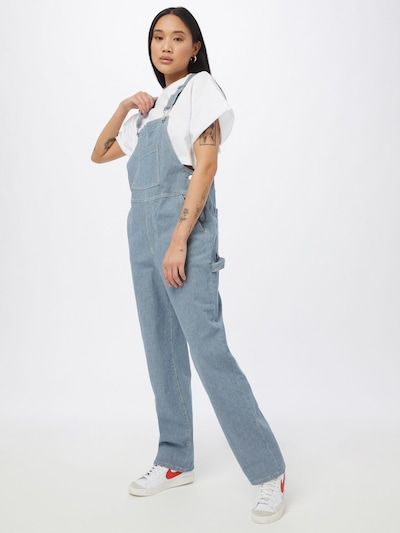 OBJECT Dungaree jeans 'Aisa' in Blue denim, View model