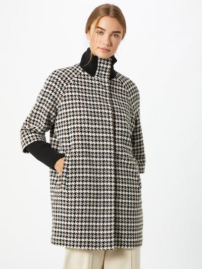 COMMA Mantel in creme / braun / schwarz, Modelansicht