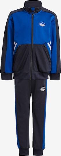 ADIDAS ORIGINALS Trainingsanzug in blau / schwarz / weiß, Produktansicht