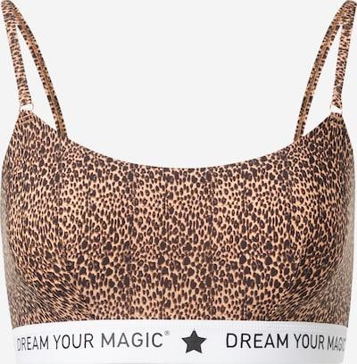 MAGIC Bodyfashion BH 'Dream Your' in de kleur Bruin / Lichtbruin / Zwart / Wit, Productweergave