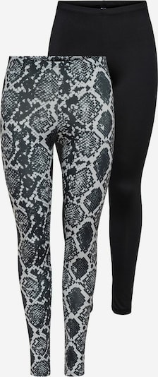 ONLY Leggings 'Aria' in grau / schwarz: Frontalansicht