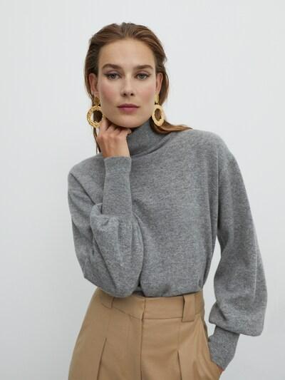EDITED Pullover 'Lillian' in grau, Modelansicht