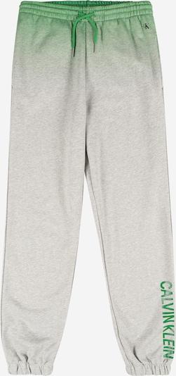 Calvin Klein Jeans Nohavice - sivá / zelená, Produkt