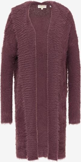 usha FESTIVAL Gebreide mantel in de kleur Pruim, Productweergave