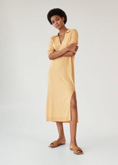 MANGO Kleid in sand, Modelansicht
