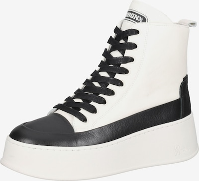 BRONX Stiefelette in schwarz / weiß, Produktansicht
