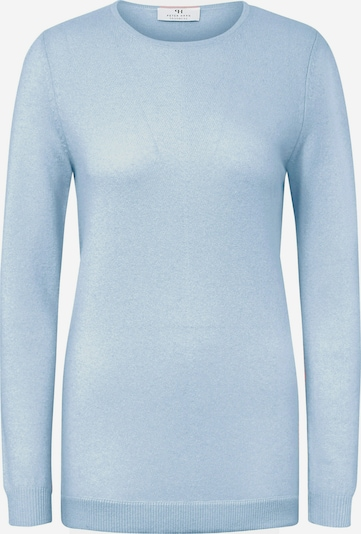 Peter Hahn Rundhals-Pullover mit Kaschmir in blau, Produktansicht
