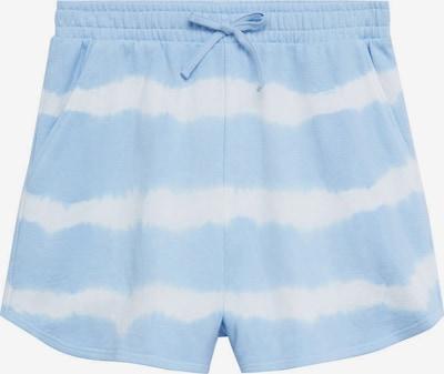 Pantaloni 'PENYP' MANGO TEEN COLLECTION pe albastru deschis / alb, Vizualizare produs