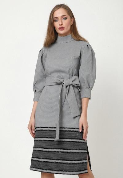 Madam-T Kleid 'MARENA' in grau, Modelansicht