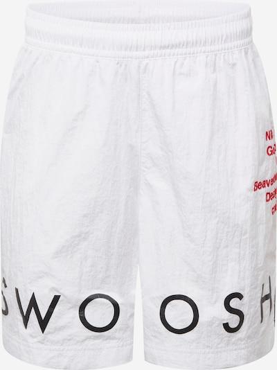 Nike Sportswear Shorts in rot / schwarz / weiß, Produktansicht