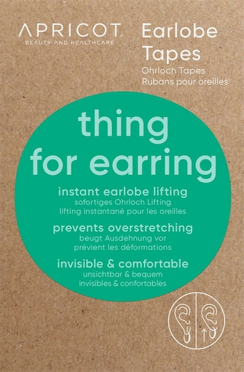 Apricot Earlobe Tapes in weiß, Produktansicht