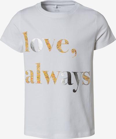 NAME IT T-Shirt 'Beren' en jaune d'or / mélange de couleurs / argent / blanc cassé, Vue avec produit