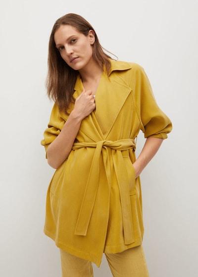 MANGO Übergangsmantel 'guardapo' in gelb, Modelansicht