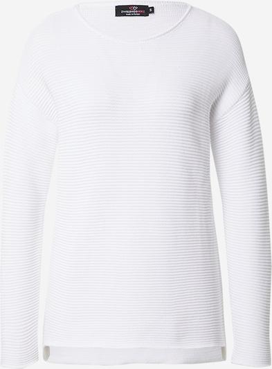 Zwillingsherz Pullover in naturweiß, Produktansicht