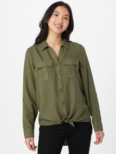 ONLY Blouse 'KARLA' in de kleur Donkergroen, Modelweergave