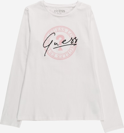 GUESS T-Shirt in rosa / schwarz / weiß, Produktansicht