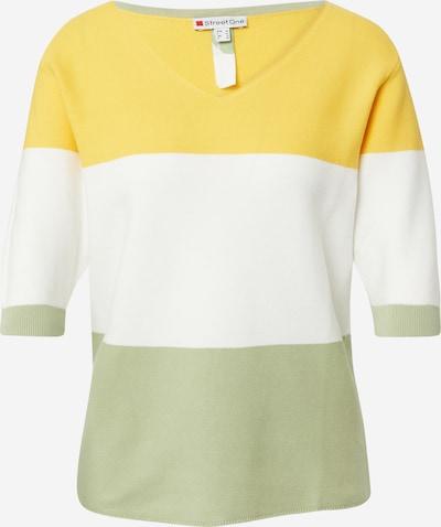 STREET ONE Пуловер в жълто / ябълка / бяло, Преглед на продукта