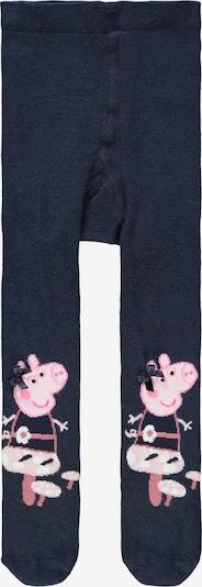 NAME IT Collant 'Peppa Pig' en bleu nuit / rose / rose clair / blanc, Vue avec produit