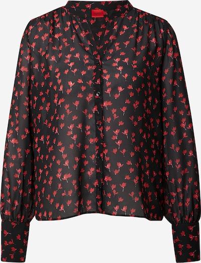 HUGO Bluse 'Eferia' in rot / schwarz, Produktansicht