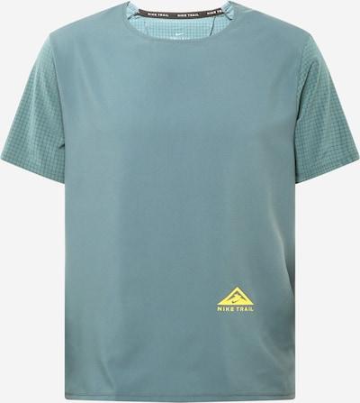 NIKE Sportshirt 'RISE 365' in gelb / jade / schwarz, Produktansicht